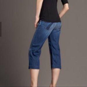 7 for All Mankind Dojo Crop Wide Leg Jeans